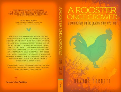 A Rooster Once Crowed – Book Cover Design