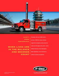 E-One Indianapolis 500 Fire Truck Ad