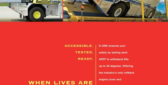 E-One ARFF Airport Rescue Truck Tested Ad